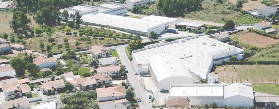 Aerial view of the recycling company Sasia