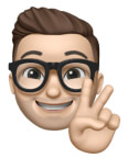 Jake Memoji giving peace sign