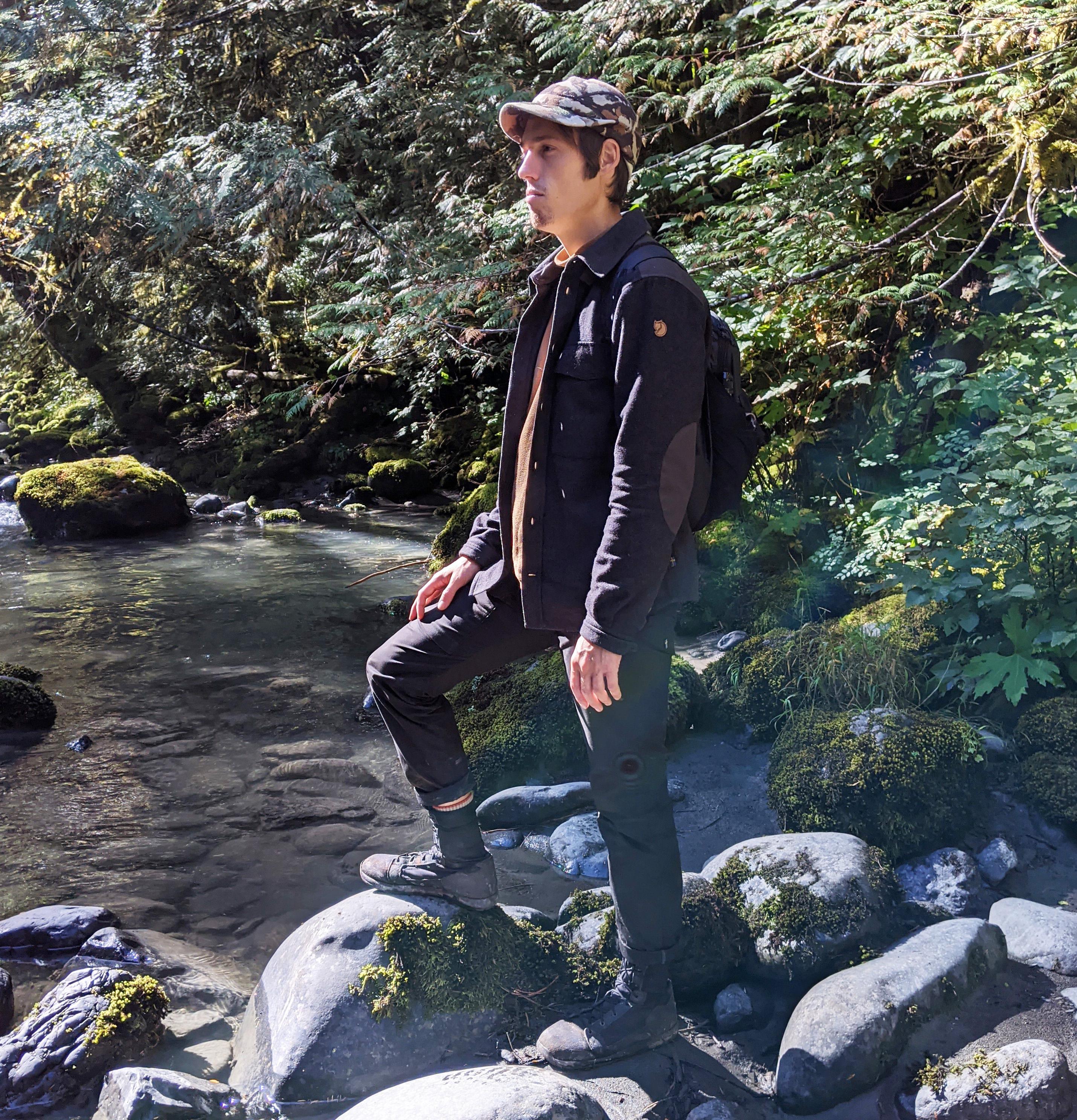 Hudson Gardner on the Dosewallips river