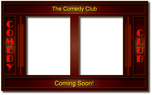 comedy club marquee graphic