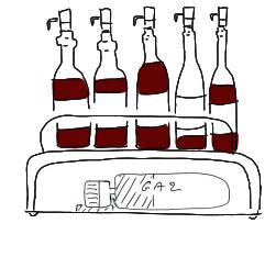 régler le debit du vin