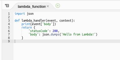 lambda code