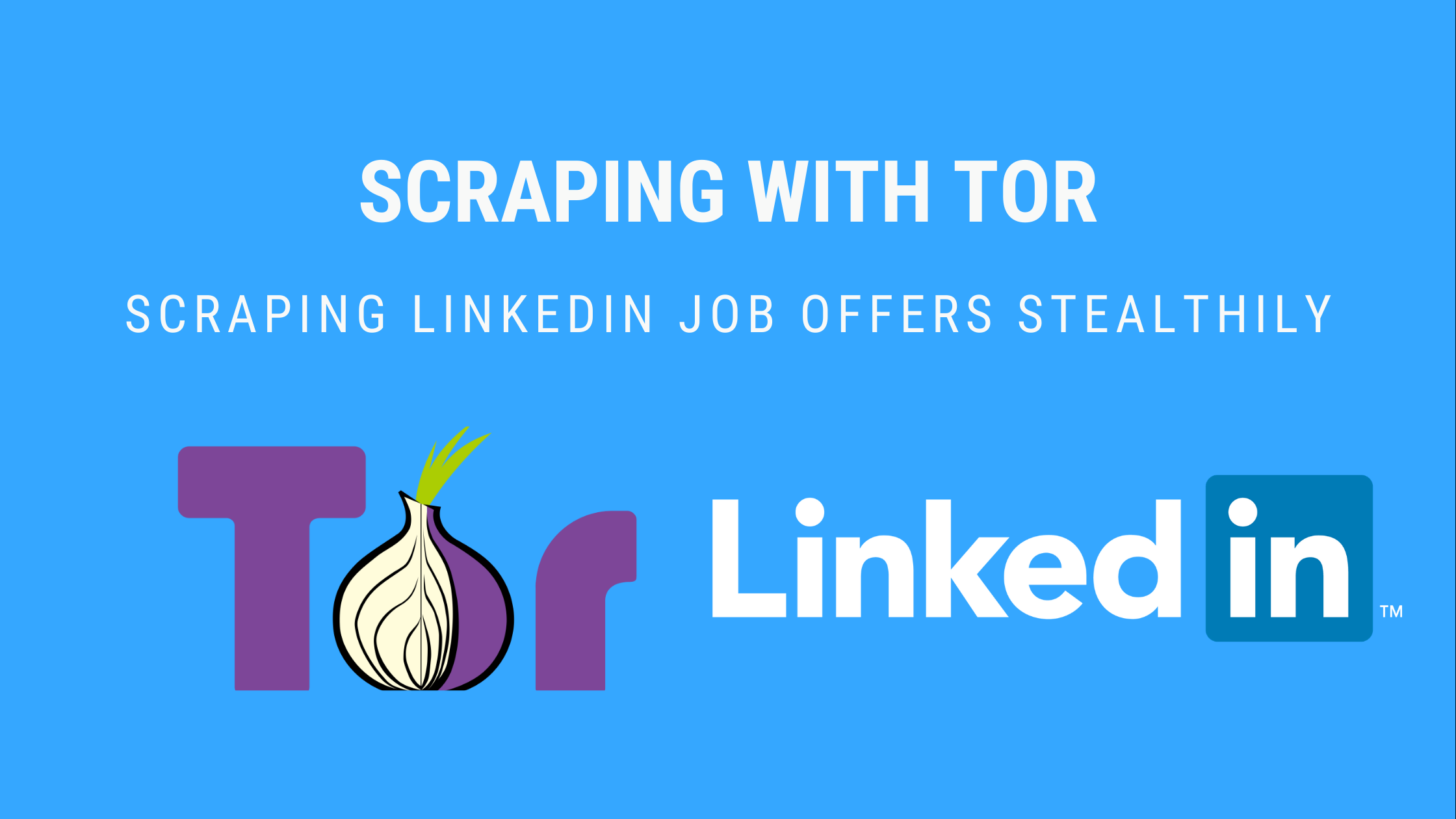 scraping with tor banner