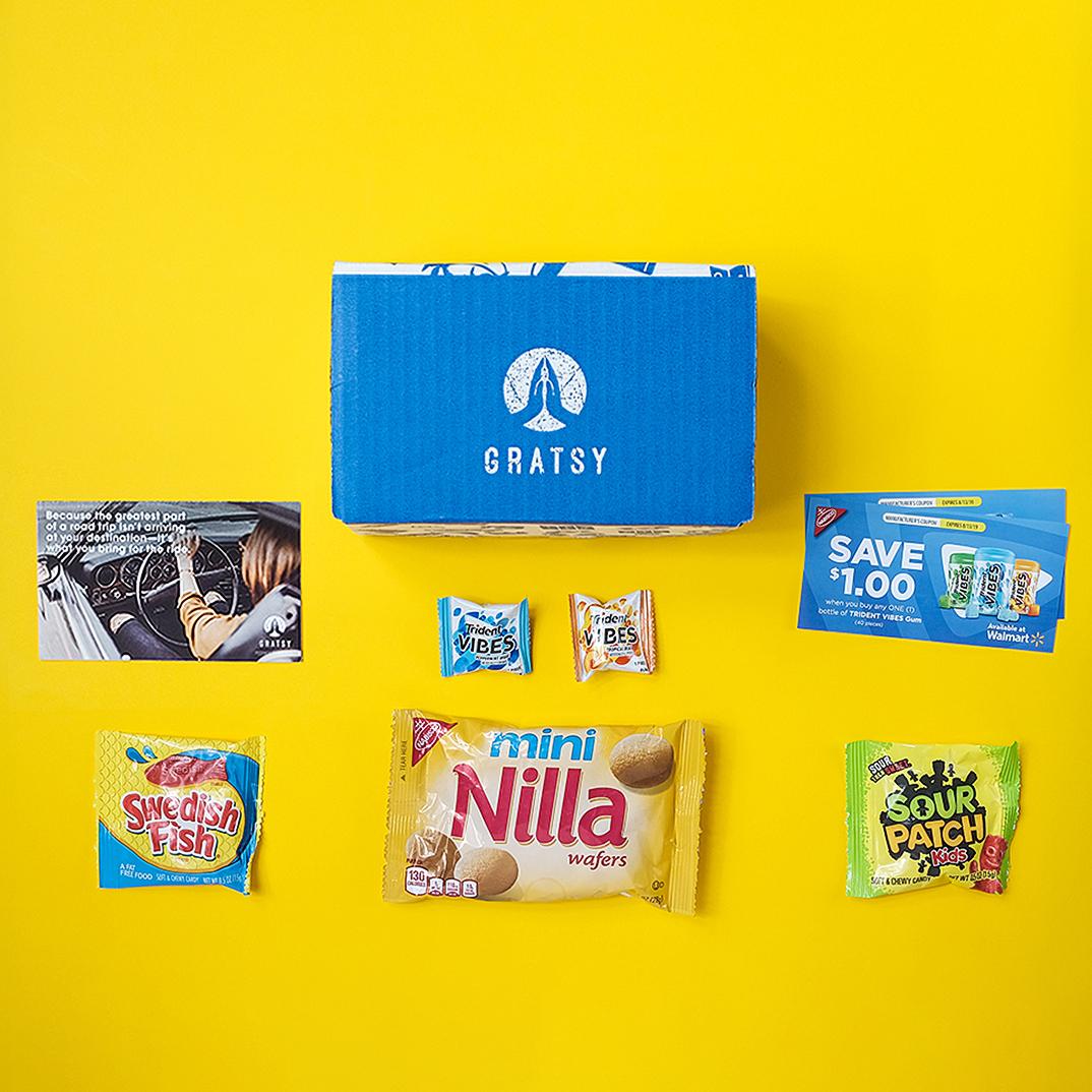 Summer road trip snack sample box