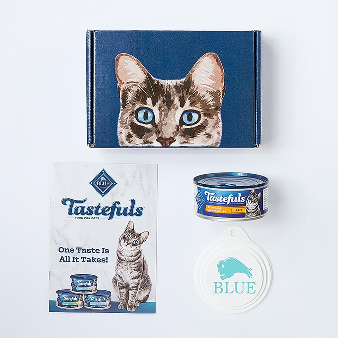 Tastefuls cat food box