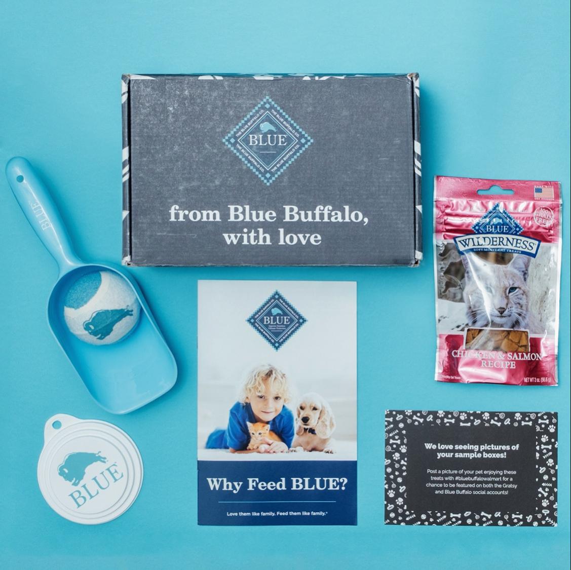 Blue Buffalo pet food box