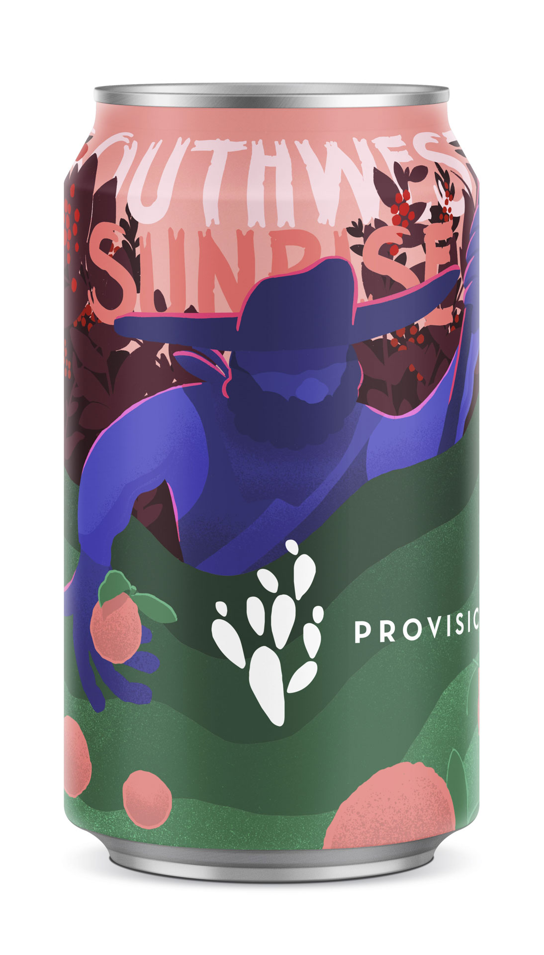 Art for Provision Coffee & Roaster's Southwest Sunrise crafted drink.