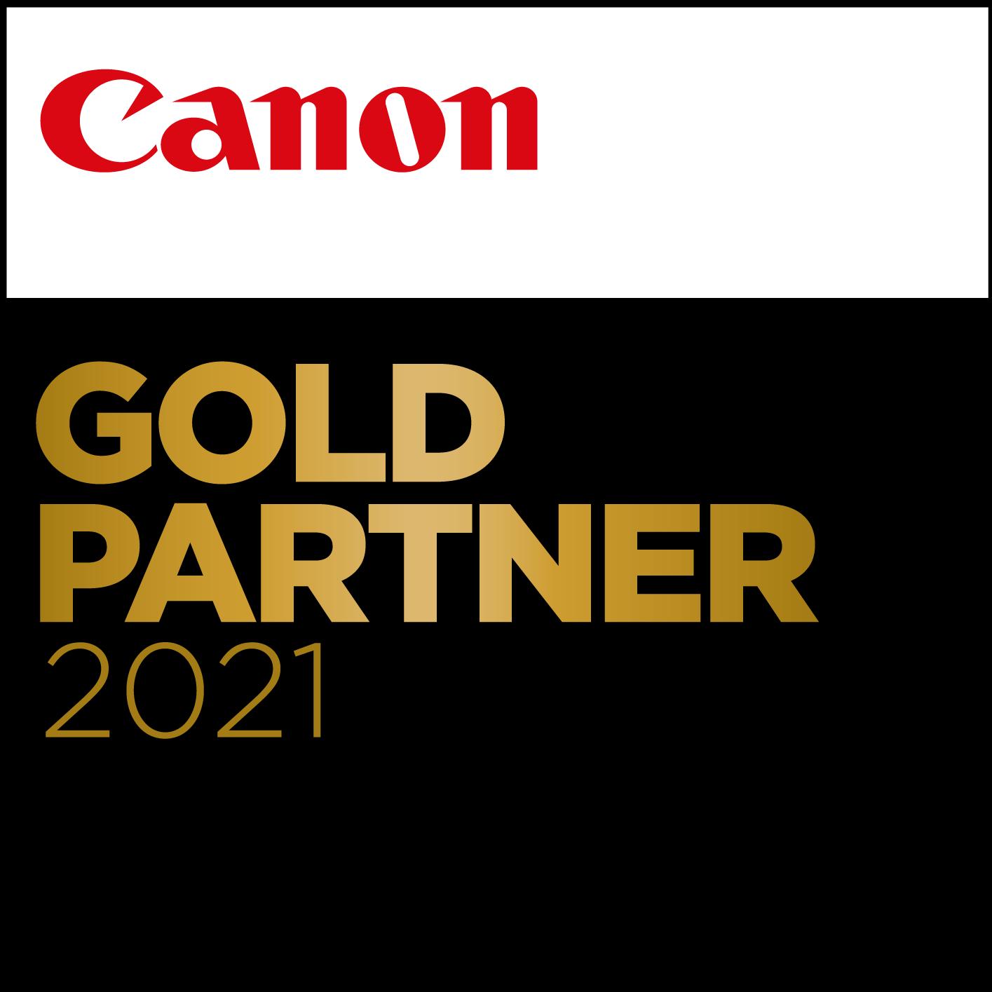 Canon Gold Partner 2021 logo
