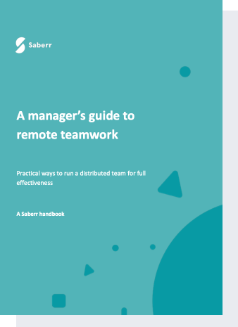 Cover of a manager's guide to remote work handbook