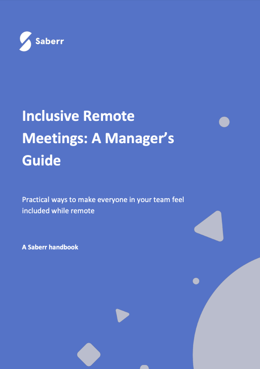 Handbook cover for a manager's guide to inclusive remote meetings