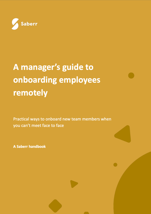 Handbook cover for a managers guide to onboarding remote team members