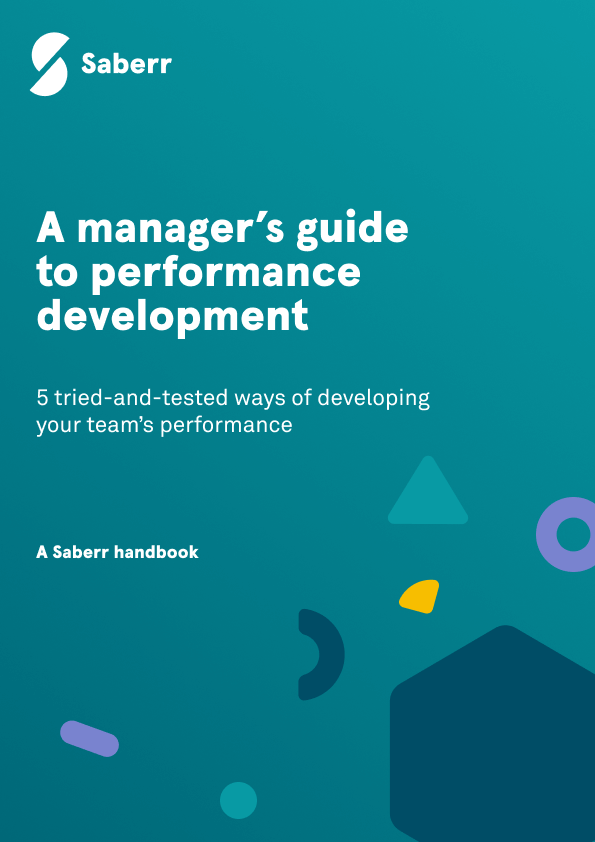 Handbook cover for a manager's guide to performance development