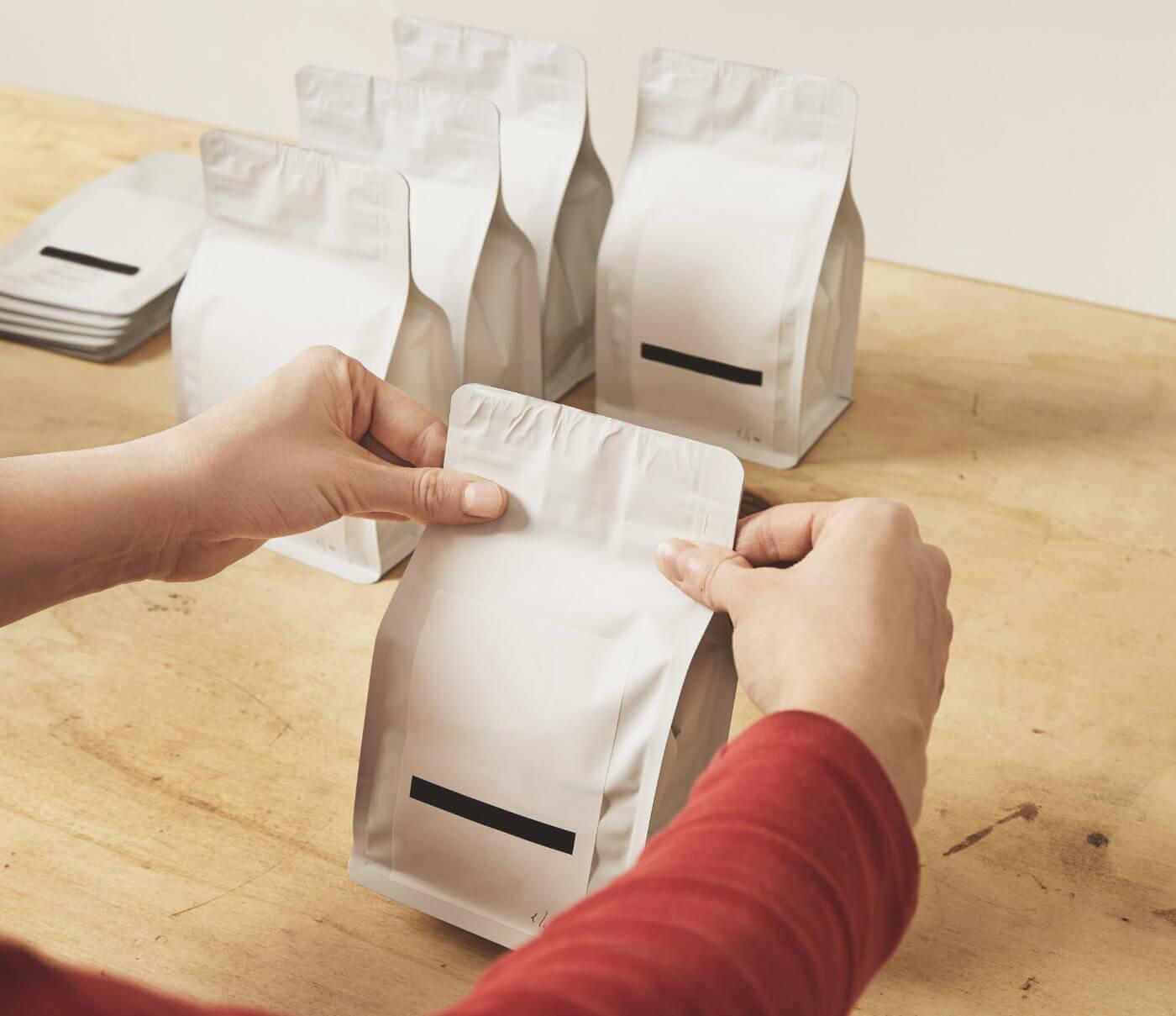 Packaging folded white