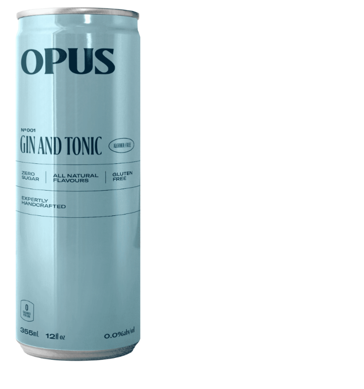 Opus Cocktails Gin and Tonic Alcohol Free