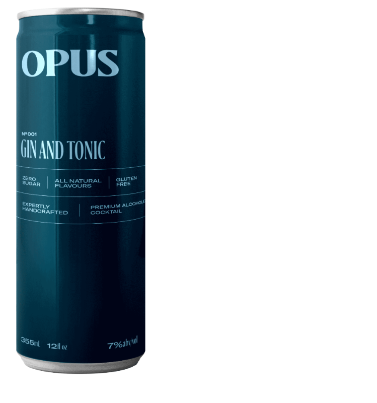 Opus Cocktails Gin and Tonic