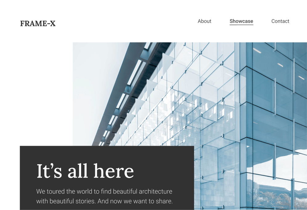 FrameX - a website showcasing the most beautiful buildings in the world