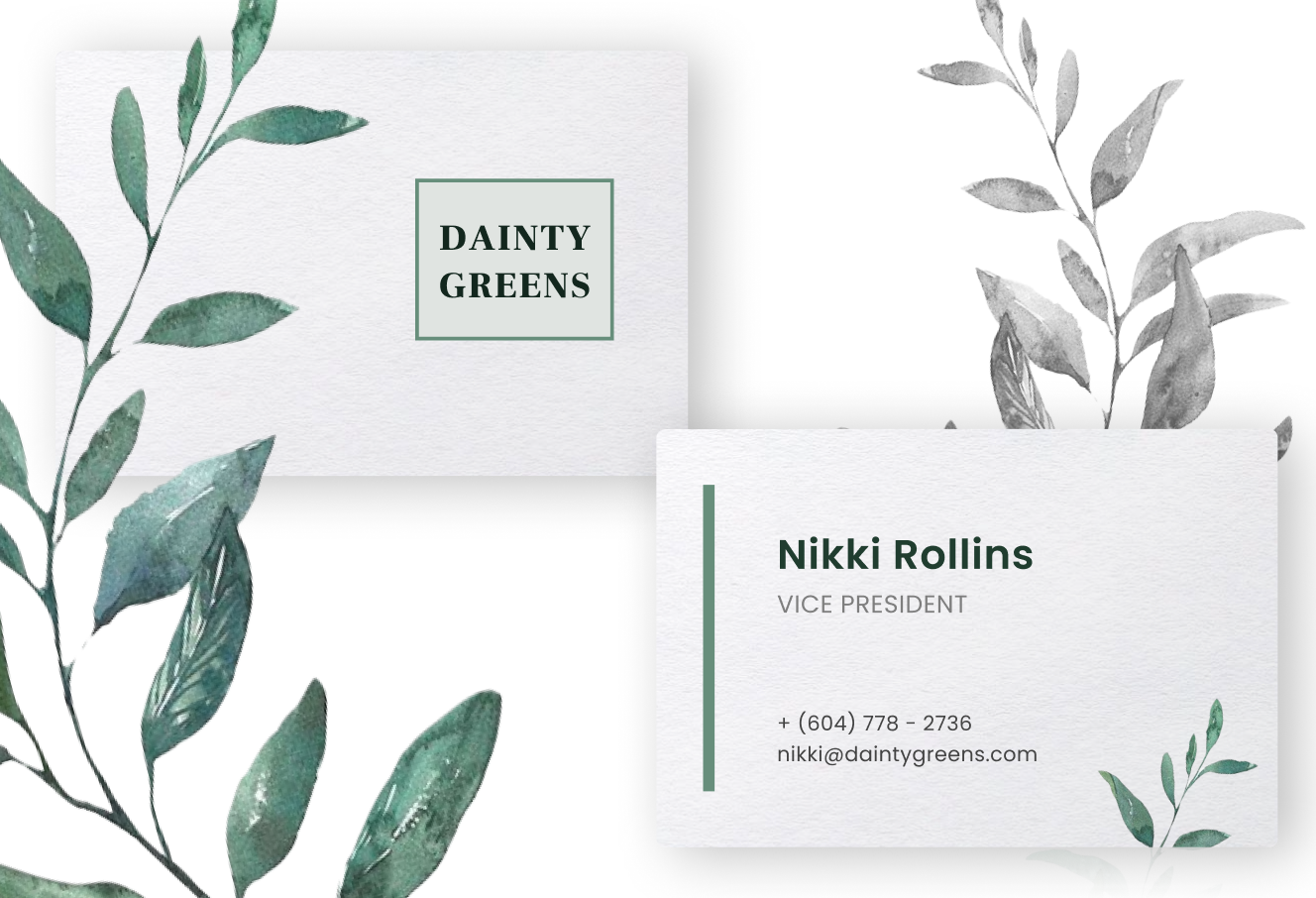 Dainty Greens - branding for a chic plant shop