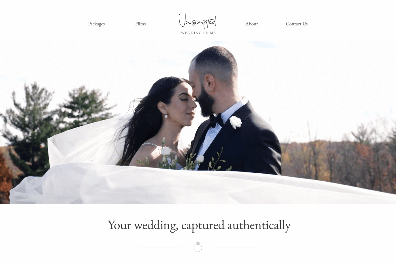 Unscripted - a wedding videography website