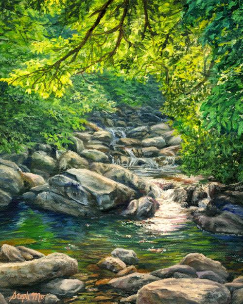 Sunlit Forest Creek
