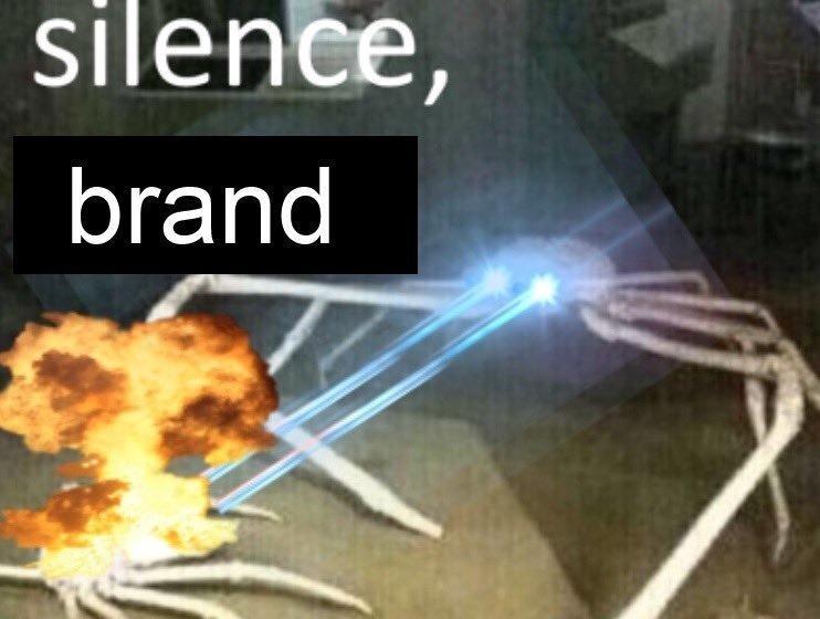 Image result for silence brand meme