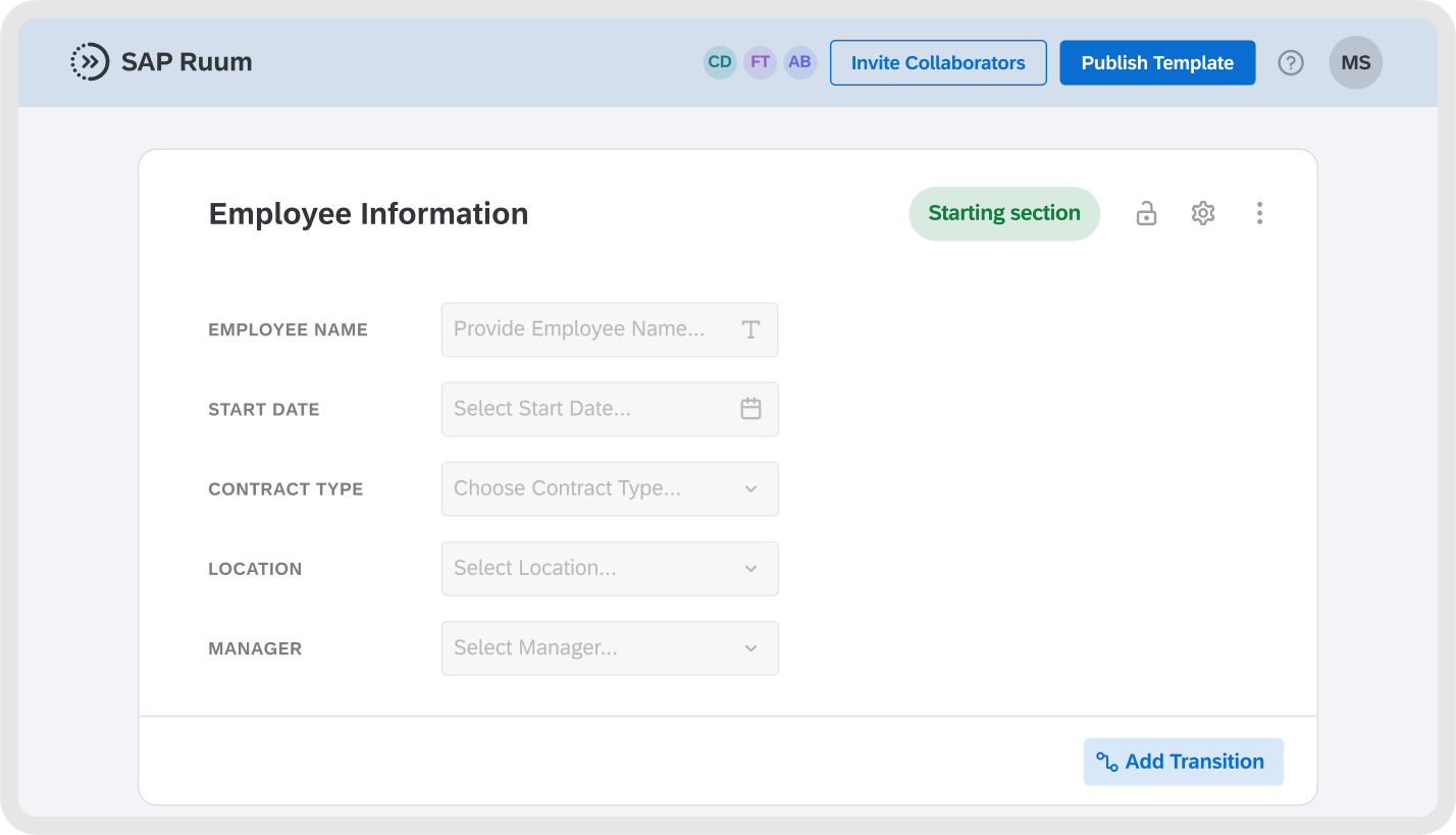 Create customized forms with reusable data fields and easy sharing capabilities.