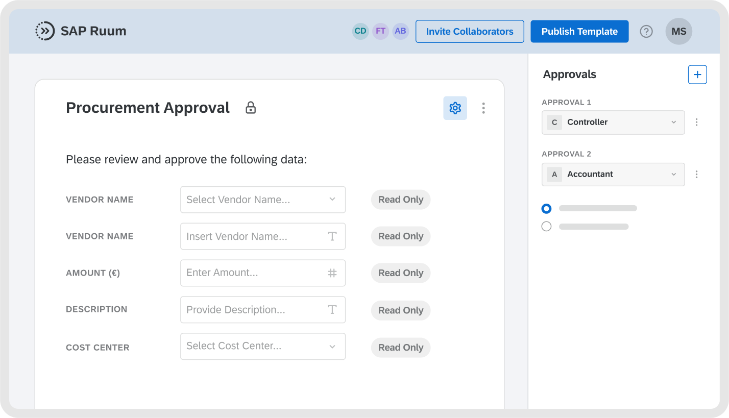 Connect forms to approval steps and automatically notify approvers of new requests.