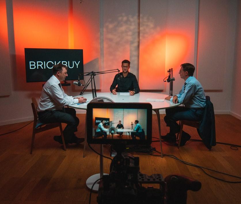 Behind the Scenes beimVideo-Podcast-Dreh in Studio B
