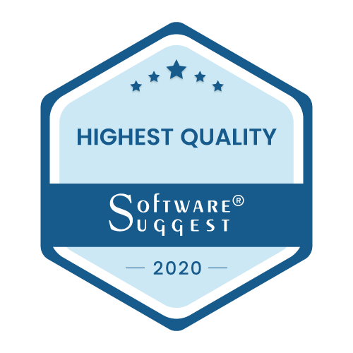 SoftwareSuggest highest quality badge for b2b e-commerce solution
