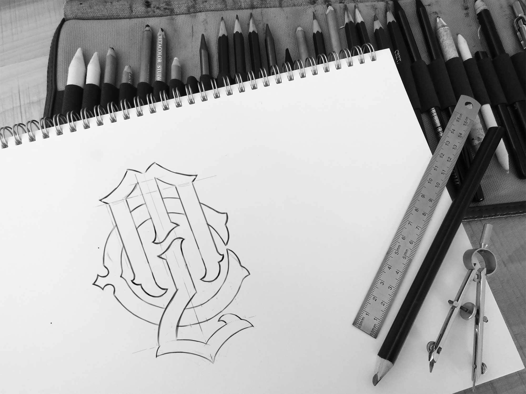 My Last Chance - Apparel Branding, Logo Sketch