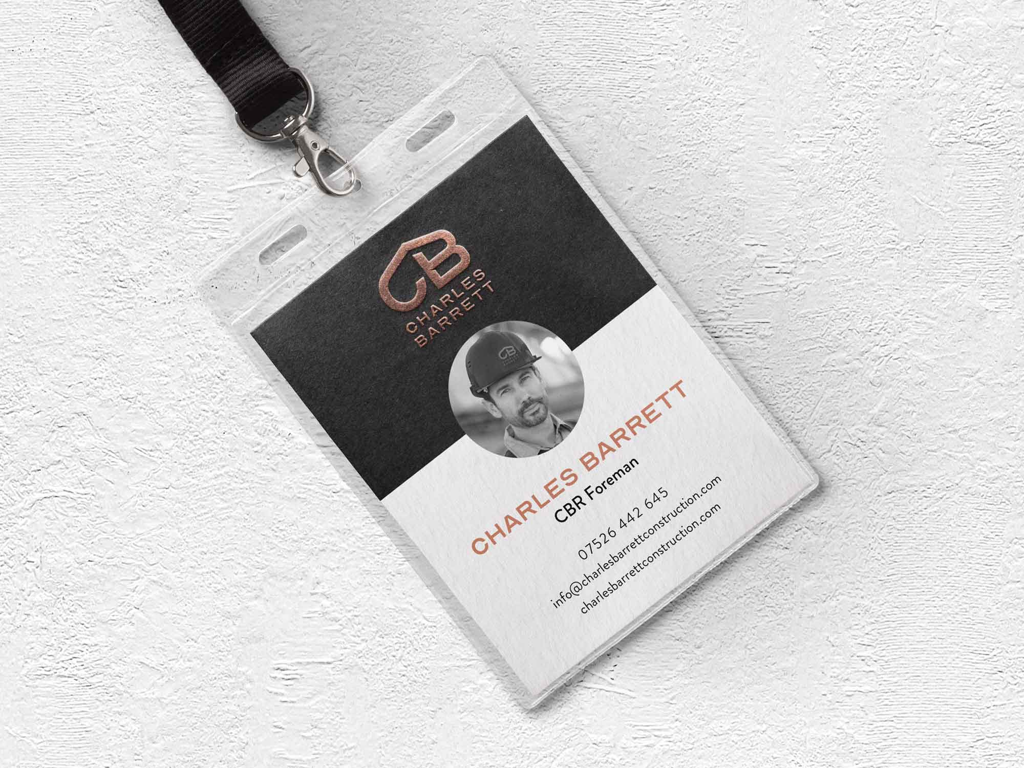 Construction company branding - Site pass