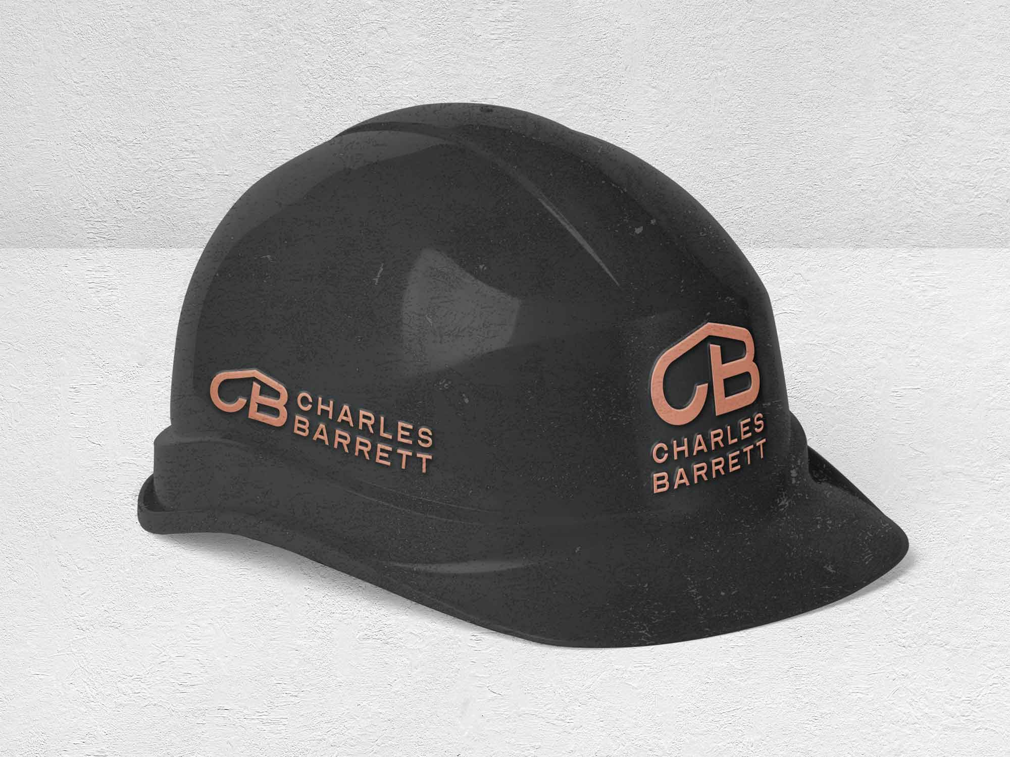 Construction company branding - Helmet with logo