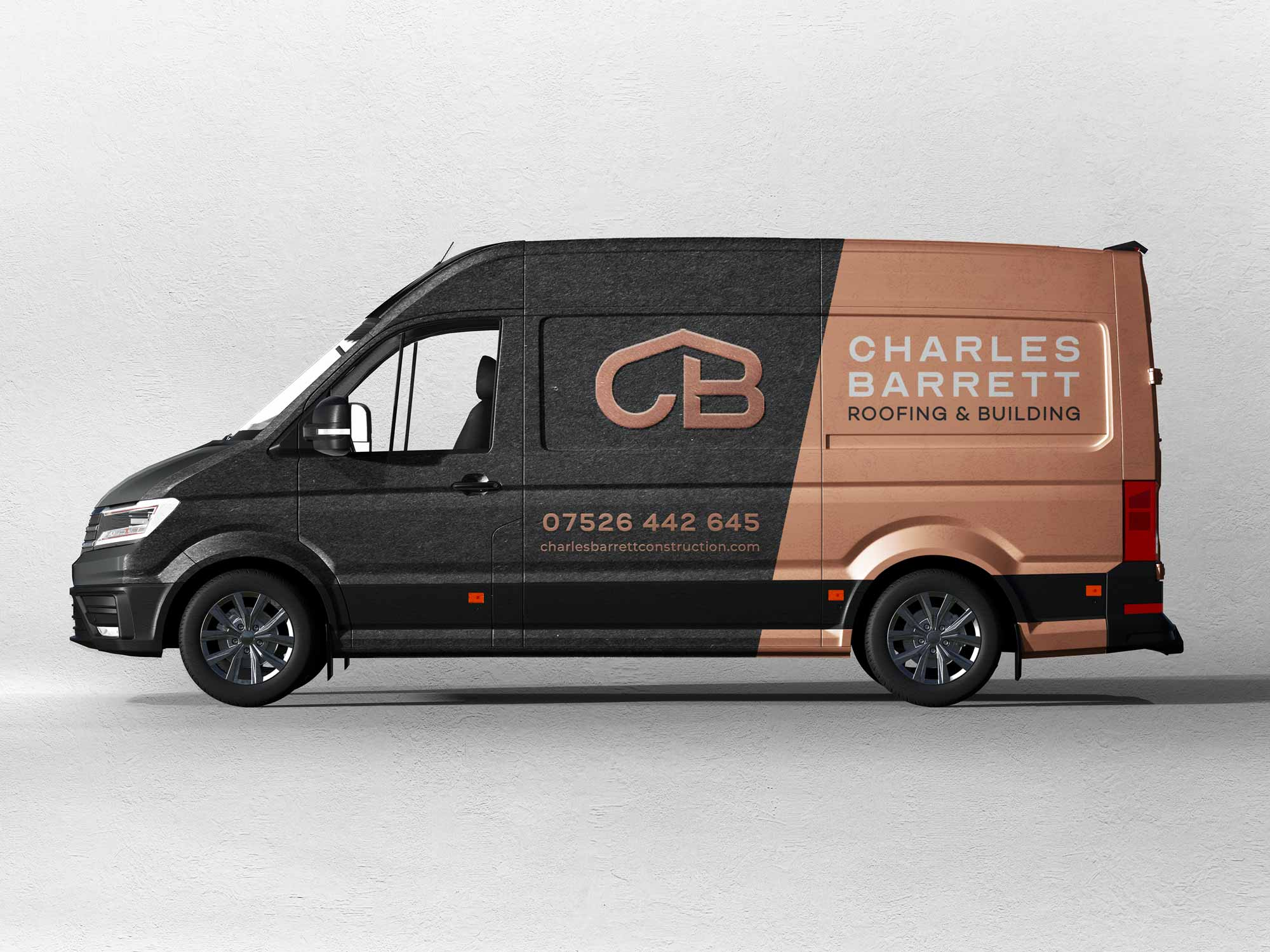 Construction company branding - Van with logo