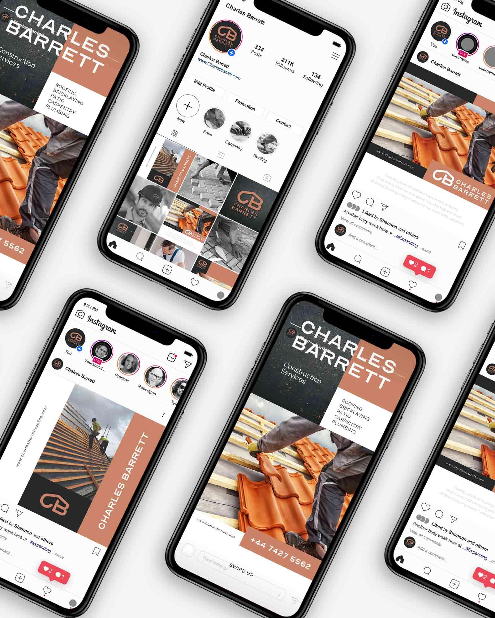 Construction company - Instagram Branding
