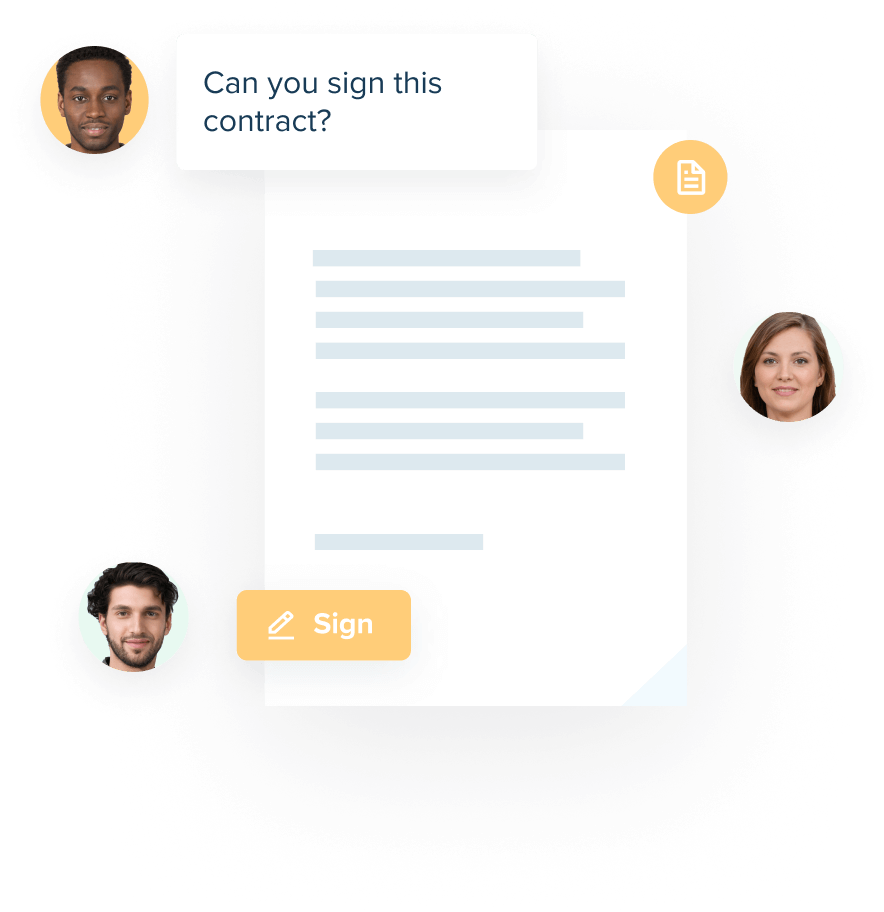 Contractify digital signing flow image