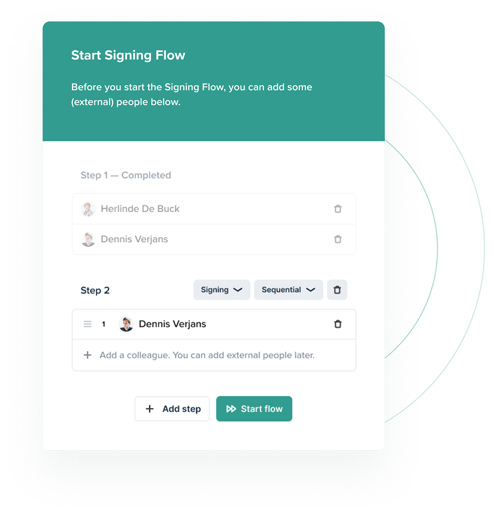 Contractify signing flow example
