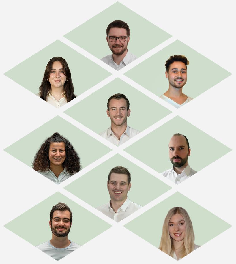 Rianthis Team Mobile Ansicht auf grünem Hintergrund