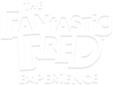 The Fantastic Fred Experience logo in white