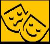 Theatrical performance icon