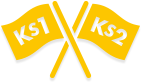 Key stages 1 and 2 flags icon
