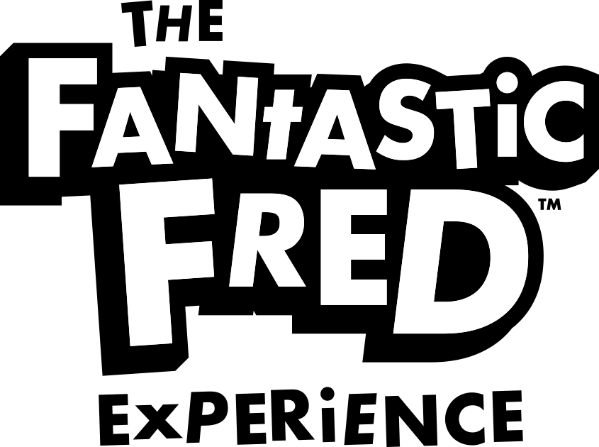 The Fantastic Fred Experience logo large in black and white