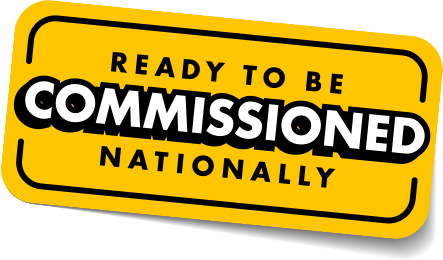 Ready to be commissioned nationally text in yellow boundary box