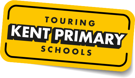 Touring Kent Primary Schools Yellow badge graphic