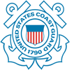 The logo of the Coast Guard.