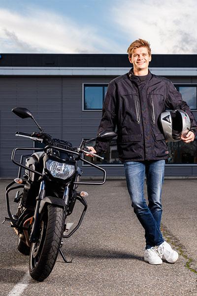 Man met motor