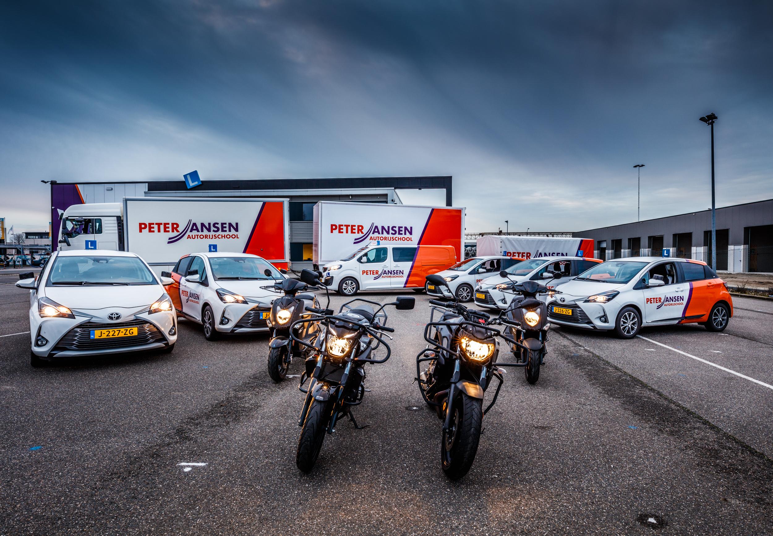 Wagenpark Autorijschool Peter Jansen