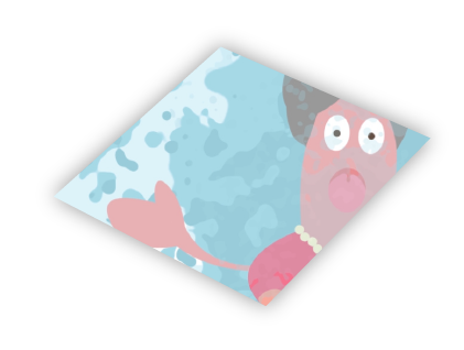Part of a cube showing animated video.