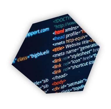 Code on screen during website design process.