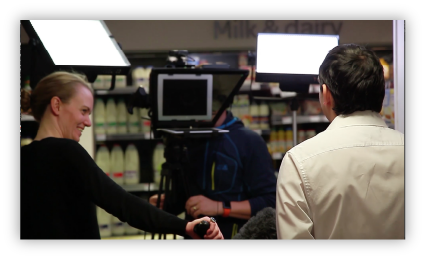Filming during a video production project