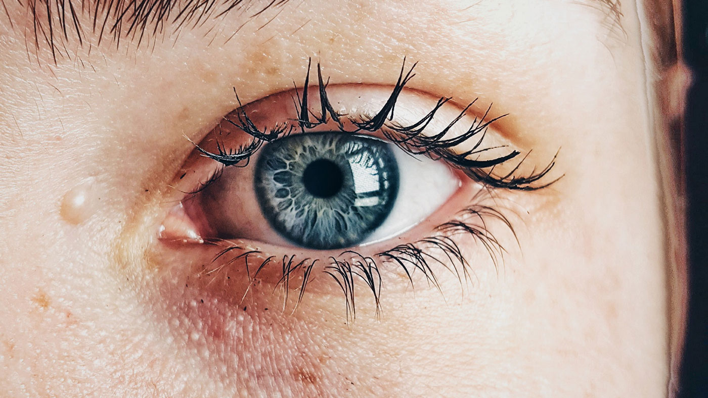 A close up image of a woman's eye.