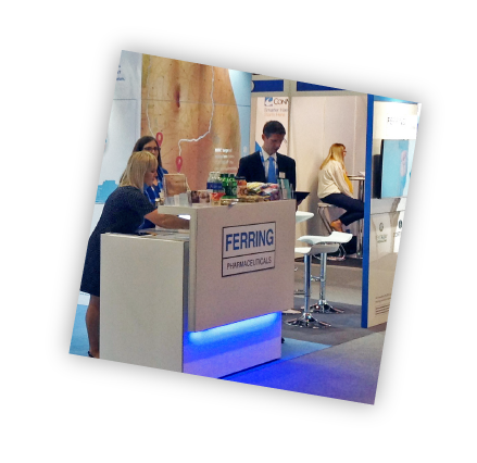 Exhibition Stand with Delegates